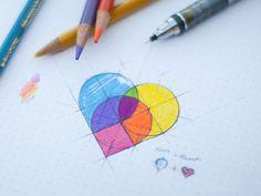 heartpins2x 20 Inspiring Logo Sketches
