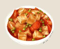 Đậu sốt cà chua Food Sketch, Food Cartoon, Food Wallpaper, Food Icons, Food Drawing, Dessert Drinks, Food Humor, Food Illustrations, Desert Recipes