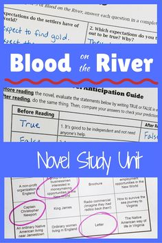 Blood On The River Study Guide Wilkesore