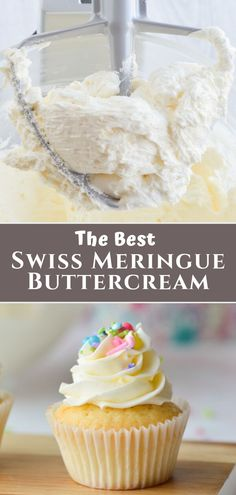 This tutorial shows you how to make Swiss Meringue Buttercream which uses egg whites to make a silky smooth frosting with a light touch of sweetness This frosting recipe. Brownie Desserts, Oreo Dessert, Mini Desserts, Cheesecake Brownies, Healthy Desserts, Chocolate Swiss Meringue Buttercream, Meringue Frosting, Best Buttercream, Bakery Style Buttercream Frosting Recipe