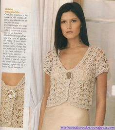 Jacket with pattern, Mi Rincon de Crochet