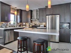 armoire de cuisine Kitchen Layout, Sweet Home, Design Inspiration, House Design, Cabinet, Interior Design, Mj, Kitchens, Houses