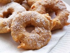 Spiced Apple or Pear Sufganiyot (Doughnuts)