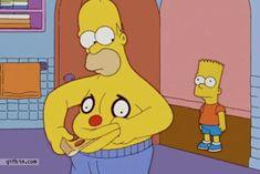 Homer Simpson belly pizza om nom nom
