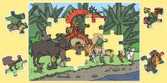 Giant Chinese New Year Jigsaw Puzzle - puzzles, jigsaws - twinkl