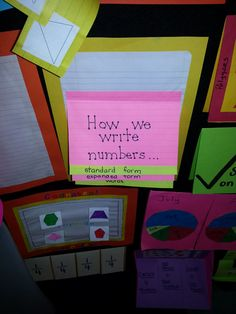 Math Foldables for interactive notebooks