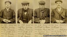Harry Fowler, Ernest Bayles, Stephen McHickie and Thomas Gilbert, pictured, were members of the notorious 'Peaky Blinders' gang which terrorised Birmingham around the turn of the century - and now their exploits will be shown in a new BBC drama. Peaky Blinders History, Peaky Blinders Real, Peaky Blinders Costume, Mafia, Netflix, Peeky Blinders, Public Enemies, Sargento, Bbc Drama