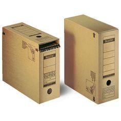 De Leitz 6086 archiefdozen zijn voorzien van een afsluitklep aan de bovenkant van de doos. Deze archiefdozen zijn geschikt voor A4 ordners maar kunnen bij dwars gebruik ook gebruikt worden om hangmappen in op te bergen.