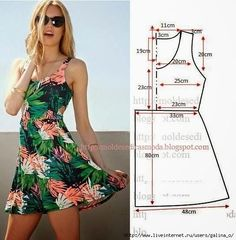 Trendy Sewing Clothes Diy Dress How To Make Ideas Dress Sewing Patterns, Clothing Patterns, Pattern Sewing, Free Pattern, Sundress Pattern, Summer Dress Patterns, Diy Clothing, Sewing Clothes, Fashion Sewing