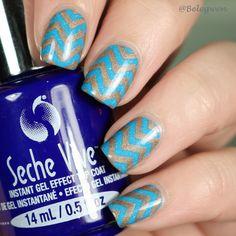 Picture polish – Ariel Chevron Nails, Picture Polish, Nail Art Designs, Nail Polish, Turquoise, Ariel, Brown, Nail Polishes, Green Turquoise