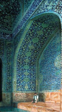 blue & green moorish mosaics... #indigoinspiration