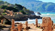 This is a famous city in the north of Algeria. It is called Tipaza.