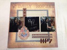 Harry Potter movie layout  www.mapdcapfrenzy.blogspot.com  #scrapbook, #page, #single, #layout