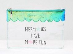 This adorable makeup bag, which could definitely double as a bikini bag. | 24 Things All Mermaids Definitely Need