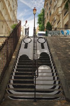 "staircaise street art.""Street Art in Montmartre"" - by Jonathan Cox"