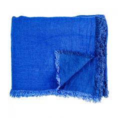 Vice Versa Linen Throw Cobalt