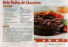 receita de bolo pudim de chocolate