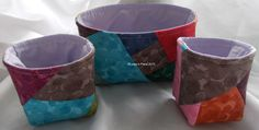 Bags - Loopy's Place Set of three fabric pots, great for knick-knacks etc
