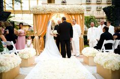 Wedding Ceremony Decor – Altars, Canopies, Arbors, Arches and Chuppahs. by Belle The Magazine