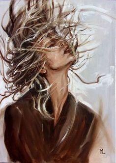 «Поймайте ветер в парусах» - оригинальная картина маслом на 50x70 см на холсте, подарок, палитра «Моника Луняк»