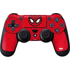 Marvel Spider-Man PS4 DualShock4 Controller Skin - Spider-Man Face Vinyl Decal Skin For Your PS4 DualShock4 Controller -- Details can be found by clicking on the image. (This is an affiliate link and I receive a commission for the sales)
