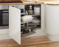 Corner Storage Accessory | Kitchen Storage Solutions | Howdens Joinery