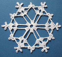 Ravelry: Bells, Flakes, and Tree Skirt Edging: Snowflake A by Patons