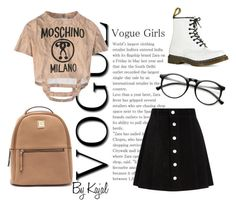 """""""No. 36"""" by kajalsandy123 on Polyvore featuring AG Adriano Goldschmied, Moschino and Dr. Martens"""