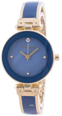 Features: Gold Stainless Steel Case Two-Tone Stainless Steel Bracelet Quartz Movement Mineral Crystal Blue Selection Analog Display Diamond Decorations Fixed Case Back Deployment Clasp 30M Water Resistance Estimated housing diameter: 30mm Estimated housing thickness: 8 mm Stainless Steel Bracelet, Stainless Steel Case, Anne Klein Watch, Diamond Decorations, Quartz Crystal, Bracelet Watch, Display, Watches, Crystals