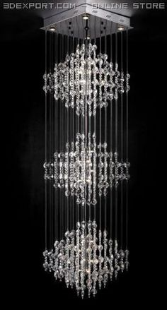 3D Model Shabby Vintage Metal Crystal Chandelier c4d, obj, 3ds, fbx ...