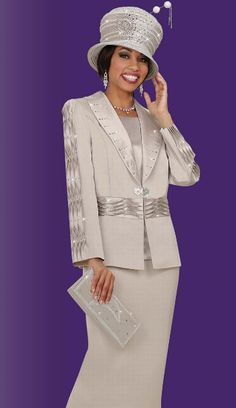 Ben Marc Hats | Ben Marc International Womens Church Suit 4643 image