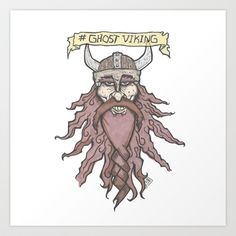 #ghostviking Art Print by Dawlism - $17.68