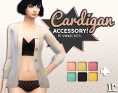 The Sims 4 | littlecakes: Cardigan as Accessory | CAS new mesh for female adult