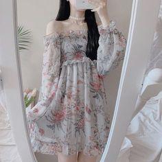 Korean Fashion Dress, Kpop Fashion Outfits, Girls Fashion Clothes, Ulzzang Fashion, Girly Outfits, Cute Casual Outfits, Cute Fashion, Pretty Outfits, Pretty Dresses