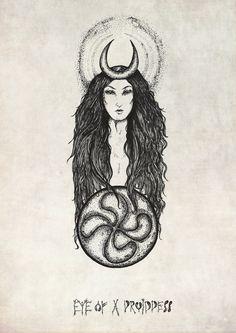 Basque Goddess of the Moon-Mari on Etsy, $32.77