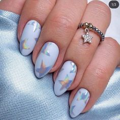 100 Pretty Valentine's Day Nail Designs Ideas You'll Absolutely Adore 2020 - In our opinion one of the best Valentine's Day gifts you can give yourself is a fabulous manicure - Star Nail Art, Star Nails, My Nails, Holiday Nails, Christmas Nails, Christmas Design, Winter Christmas, Christmas Makeup, Winter Nails