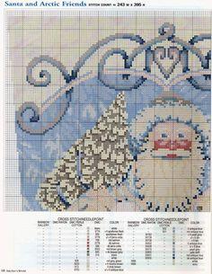 Schema punto croce Calza Babbonatale 21b