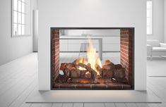 Heat N Glo – Escape See-Through Gas Fireplace Double Sided Electric Fireplace, Outdoor Wood Burning Fireplace, Direct Vent Gas Fireplace, Vented Gas Fireplace, Indoor Outdoor Fireplaces, Fireplace Inserts, Modern Fireplace, Living Room With Fireplace, Arquitetura
