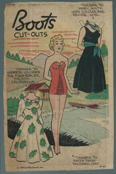 3-29-59 Boots paper doll / eBay