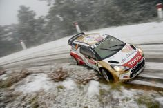 Mads Ostberg of Norway and Jonas Andersson of Sweden compete in their Citroen Total Abu Dhabi WRT Citroen DS3 WRC during Day One of the WRC ...
