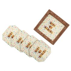 Happee Monkee Mr And Mrs Coaster Set #entertaining #styling #tray #party #mint #lemon - 20% off all DENY Trays and Coaster Sets through 10/18!