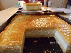 Fincsi receptek: Túrós pite Cornbread, Dairy, Food And Drink, Cheese, Ethnic Recipes, Sweets, Cooking, Millet Bread, Corn Bread