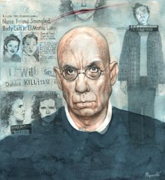 James Ellroy by Riccardo Mannelli