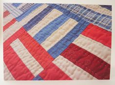 Printed Art Card - Detail of Patchwork Quilt Wall Hanging Image - Americana
