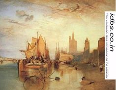 Cologne The Arrival of a Packed Boat Evening 1826 by Joseph Mallord William Turner