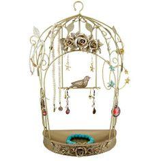 Bird cage jewellery stand