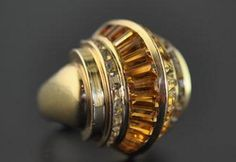 """This spectacular - """"architectural"""" ring was designed by Suzanne Belperron for Rene Boivin in 1934."""