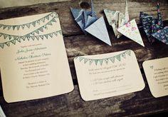 Eco Brides - Woodland Press. Sustainable wood veneer wedding invitations