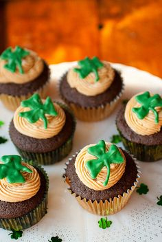Chocolate Stout Cupcakes with Whiskey Caramel Buttercream