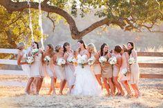 Mixed blush bridesmaids dresses Photography by Jennifer Skog Photographers / skogasinvogue.com